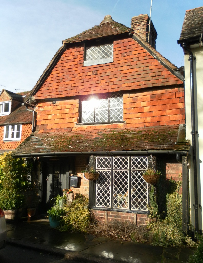 The home of Nancy Pearn, Old Plough Cottage in Ifield