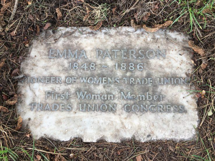 Emma Paterson (1848-1886) memorial stone