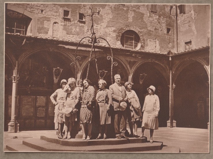 William Randolph Hearst and some of his guests on a Grand Tour of Italy between the wars.