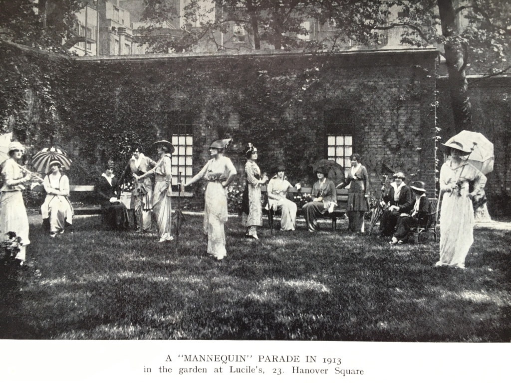 A Mannequin Parade in the garden of Maison Lucile in 1913.