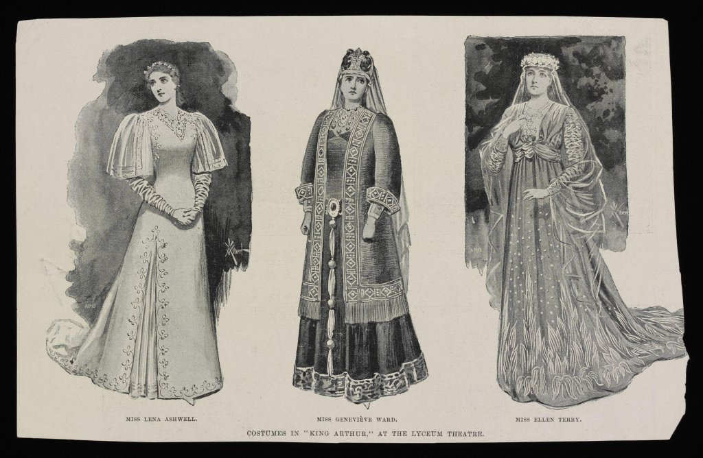 Costumes for the play, King Arthur, in 1895 by Ada Nettleship