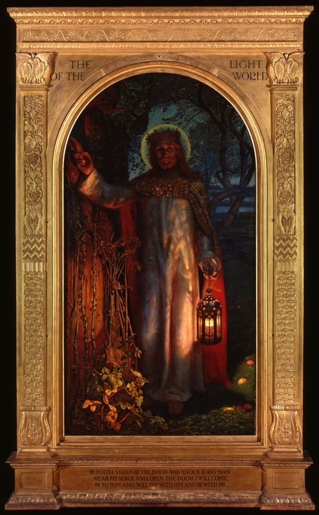 'The Light of the World' with the frame made by Hilda Hewlett