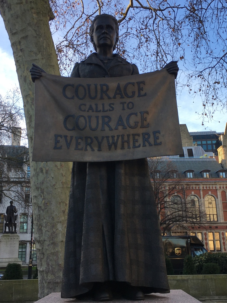 Millicent Garrett Fawcett: statue in Parliament Square, by Gillian Wearing