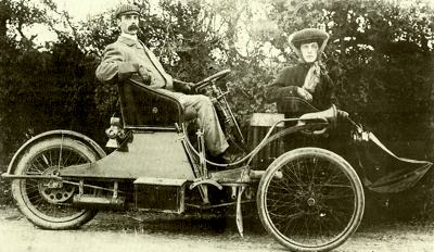 A Singer tri car from c.1905