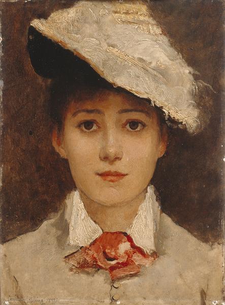 Louise Jopling - Self Portrait (1877), Manchester Art Gallery