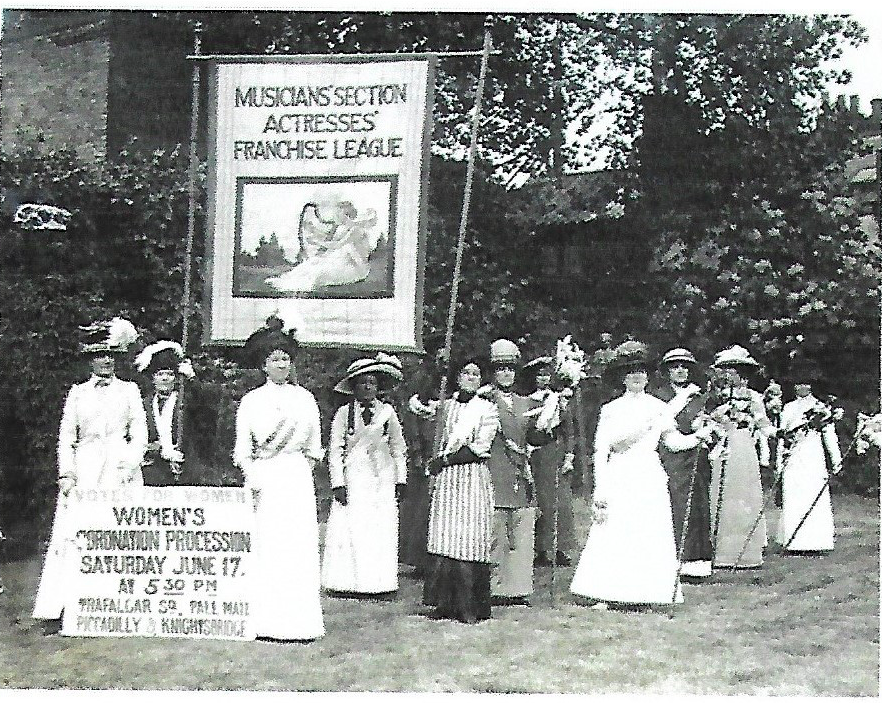Musicians' section of the Actresses Franchise League - Coronation Procession 1911.