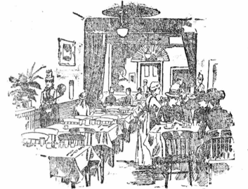 The first Dorothy restaurant, which opened on Mortimer Street in 1888.