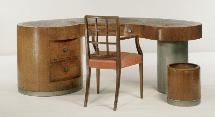 Desk, wastepaper bin and chair by Betty Joel, 1929