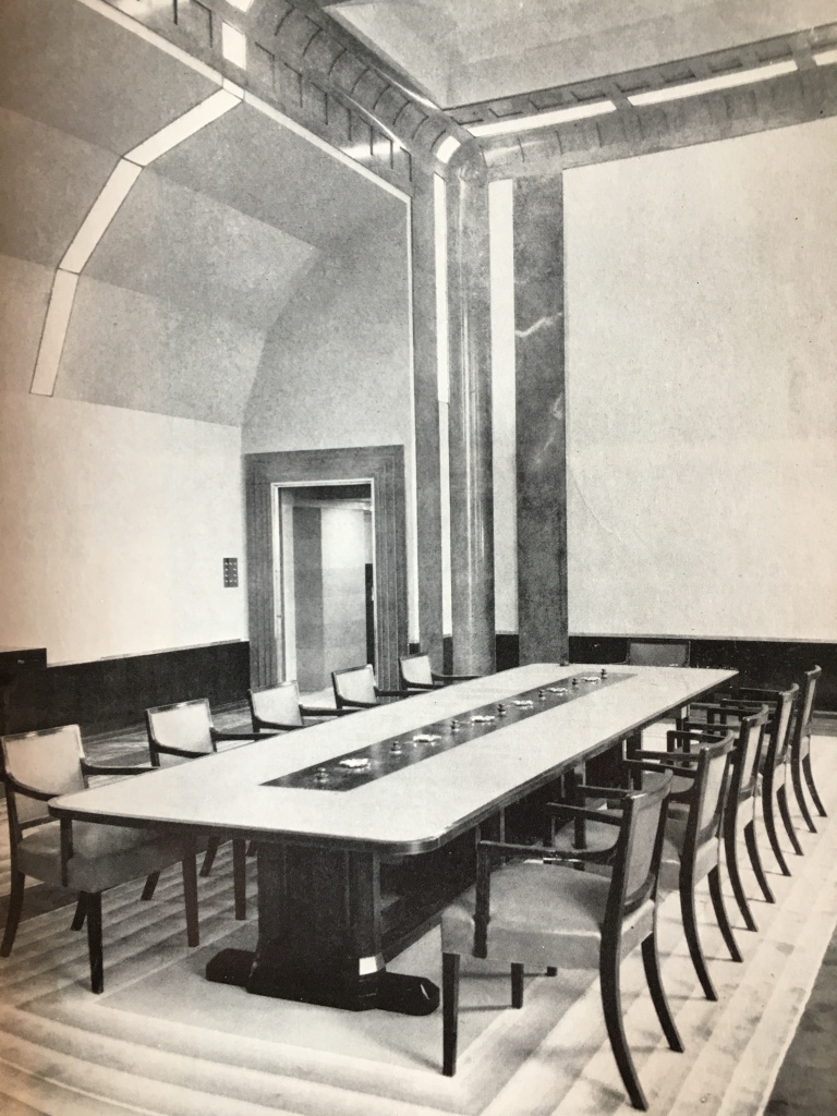 Board room for the directors of Hays Wharf designed by Betty Joel
